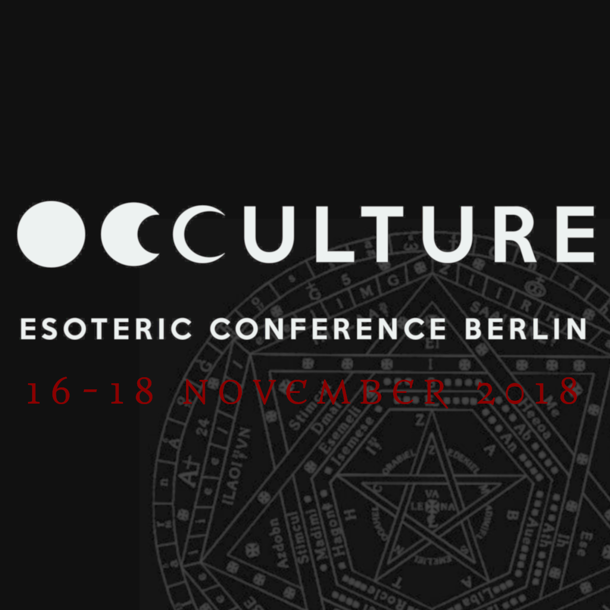 OCCULTURE ESOTERIC CONFERENCE BERLIN 2018